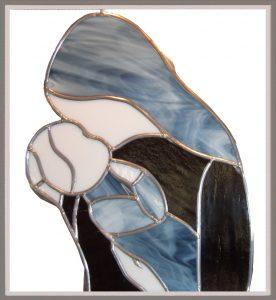 060_Spiegel-Bild Mutter-Kind 40 x 40 cm